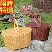 野餐籃(大)-純手工戶外休閒郊遊用品2色68e4【時尚巴黎】