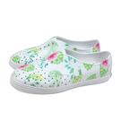 native JERICHO PRINT 休閒鞋 洞洞鞋 白色 花卉植物 女鞋 11300401-2005 no036