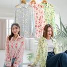 現貨-MIUSTAR 配色花透膚雪紡紗襯衫(共3色)【NJ1780】