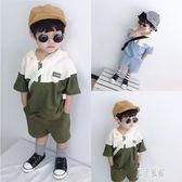 3歲男童套裝2019新款洋氣寶寶短袖夏季帥氣兩件套嬰兒運動裝 LR4590【原創風館】