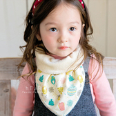 韓國樹林小鴨加絨保暖三角領巾 冬款棉感圍兜 口水巾