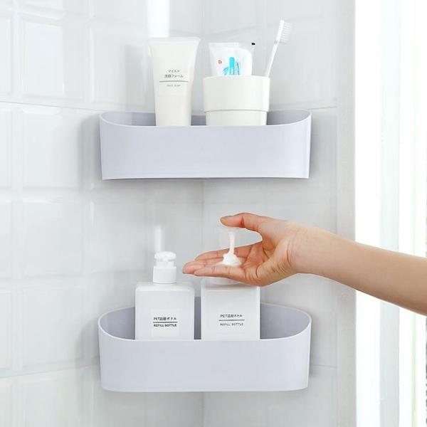 尺寸超過45公分請下宅配智慧夫人日式簡約浴室角架家用衛生間無痕粘膠置物架洗漱臺收納架