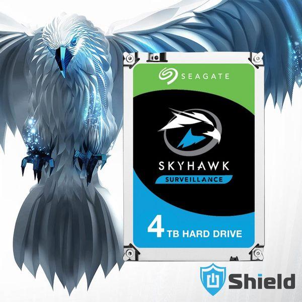 Shield神盾安控|全新附發票|Seagate監控鷹3.5吋4TB監控專用硬碟|ST4000VX007 |3年保固到府收送