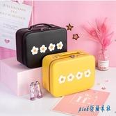日系可愛化妝包便攜袋女大容量收納盒箱護膚品ins風超火網紅韓國 OO7092『pink領袖衣社』