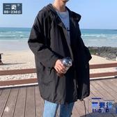 秋季中長版風衣外套加大碼胖子休閒外套學生大衣男裝【英賽德3C數碼館】