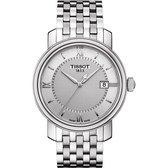 TISSOT 天梭 Bridgeport 寶環系列經典石英手錶-銀/40mm T0974101103800