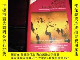 二手書博民逛書店THE罕見2009 ANNUAL REGISTER:WORLD