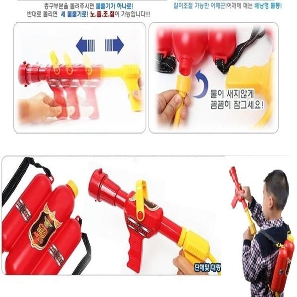 【塔克】背包水槍 消防員 背包 水槍 可調節出水量 噴射槍 消防員造型 酷夏最夯玩具 沙灘 海灘