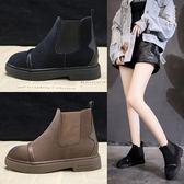中筒靴 ins馬丁靴子女冬新款網紅女鞋韓版百搭小短靴短筒平底靴 city精品