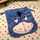 【發現。好貨】迪士尼 小熊維尼家族 小驢伊爾 屹耳 驢子 毛絨束口刺繡收納袋相機袋衛生棉包