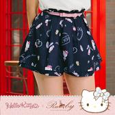 褲裙 Hello Kitty x Ruby 聯名款-滿版碎花印花褲裙 附腰帶-Ruby s 露比午茶