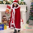 聖誕節服裝 圣誕節兒童披風斗篷男女童親子裝表演服圣誕服披風金絲絨圣誕服裝耶誕節