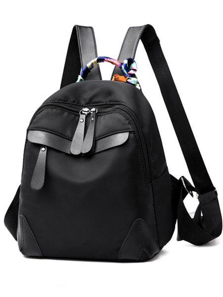 後背包—雙肩包女背包新款韓版潮牛津布帆布時尚休閒百搭女士旅行包包 依夏嚴選