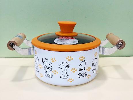 【震撼精品百貨】史奴比Peanuts Snoopy ~SNOOPY 兩手鍋-橘#07635
