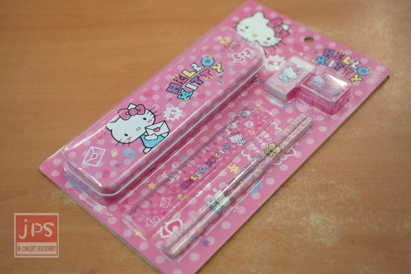 Hello Kitty 6件文具組 (粉塗鴉)
