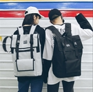 男款原宿風背包 男款大容量雙肩包 男時尚雙肩包 潮男背包 韓版學院風書包女 女款旅行電腦背包