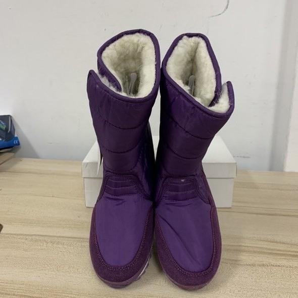百搭時尚內刷毛短靴雪地靴中筒靴(37號/777-9651)
