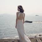 洋裝 2021新款海邊度假沙灘性感露背連身裙長款仙女裙超仙拍照旅游三亞