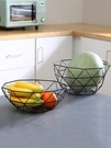 水果籃 北歐風格水果盤盆網紅茶幾客廳創意個性現代家用鐵藝水果籃收納筐【快速出貨八折鉅惠】