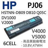 HP PJ06 6芯 日系電芯 電池 367759-001 367760-001 367769-001 V2000 407835-001 407834-001 V5000