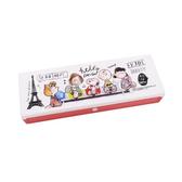 SNOOPY輕巧塑膠鉛筆盒(好朋友旅遊世界) KAMIO_KM04617
