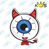 【防水貼紙】紅大眼 # 壁貼 防水貼紙 汽機車貼紙 7.5cm x 9.4cm