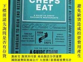 二手書博民逛書店Where罕見Chefs Eat 廚師吃的地方:廚師最喜歡的餐館