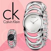 CK 手錶專賣店 K4G23126  女錶 手環式 白面 石英 強化耐磨玻璃鏡面 不鏽鋼錶殼