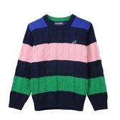 『小鱷魚童裝』撞色條紋毛衣(08號~18號)532111