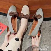 淺口單鞋女潮春季韓版方頭粗跟復古奶奶鞋仙女鞋子 小確幸