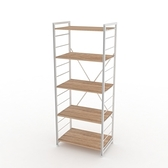組 - 特力屋萊特 組合式層架 白框/淺木紋色 60x40x158cm