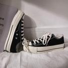厚底帆布鞋女增高2020新款韓版學生百搭秋冬小白鞋女板鞋低幫潮鞋