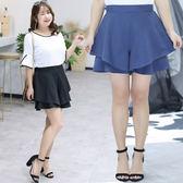 中大尺碼~A字修身優雅半身褲裙(XL~4XL)