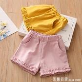 寶寶純色休閒褲 夏裝女童童裝兒童短褲子kz-c337