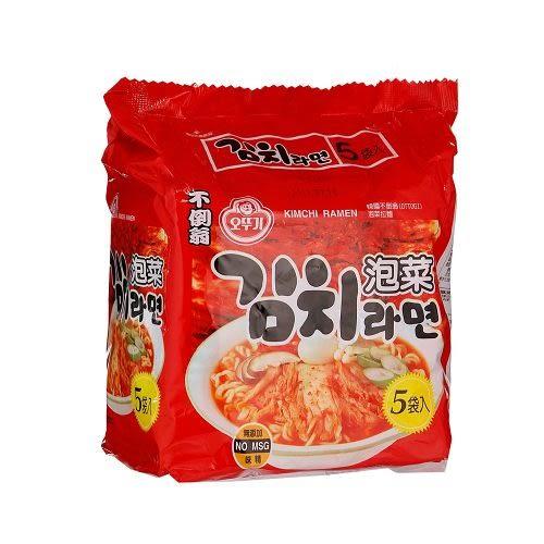 韓國不倒翁泡菜拉麵120g*5包【愛買】