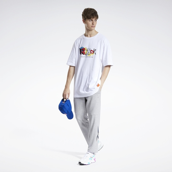 REEBOK X BLACK EYE PATCH 男裝 女裝 短袖 聯名 街頭 寬鬆 棉質 白【運動世界】GT4621
