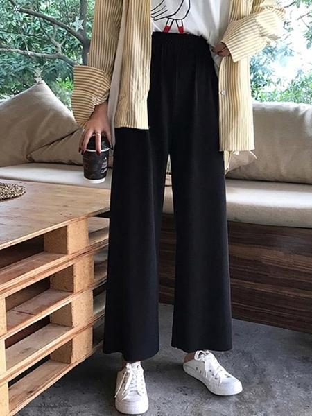寬管褲女夏寬鬆學生高腰垂感顯瘦百搭褲子2021新款春秋休閒直筒褲 漫步雲端