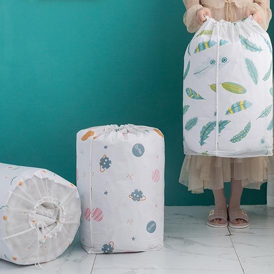 棉被袋 收納袋 束口袋 大 抽繩袋 打包袋 收納袋 換季收納 PEVA圓筒束口收納袋【N182】生活家精品