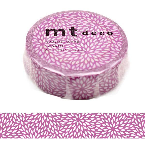 日本mt deco Masking Tape 和紙膠帶 紫羅蘭菊花 15mm