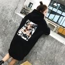 ★春秋季大學T女韓版寬鬆大碼中長款外套加...