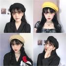 貝雷帽 貝雷帽女日系夏季薄款氣質純色八角帽防曬透氣復古新款畫家帽百搭