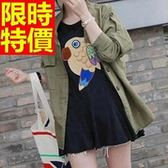 軍裝外套-質感優質防風立領收腰修身版中長款女大衣64c37[巴黎精品]