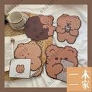 滑鼠墊 韓國ins可愛少女可愛小熊吃餅干滑鼠墊杯墊餐墊子 一木一家