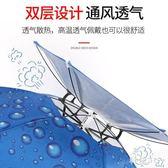 釣魚傘帽防雨防曬大號便攜帶式雙層頭戴式可折疊防風加厚遮陽雨傘帽WL418【科炫3C】