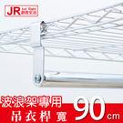 【JR創意生活】90cm 一英吋電鍍吊衣桿 衣櫥吊衣桿 鐵力士架專用 掛衣桿 (含掛勾螺絲配件)