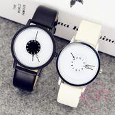 手錶 正韓時尚簡約潮流原宿男女中學生創意手錶男個性概念情侶手錶一對
