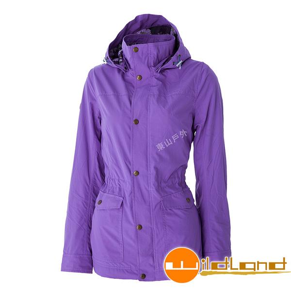 Wildland 荒野 0A52903-50粉紫色 女Pile裡防風時尚保暖外套 保暖夾克/防風外套/輕量外套/爬山健行