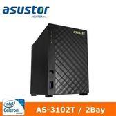 【綠蔭-免運】ASUSTOR華芸 AS-3102T 2Bay網路儲存伺服器