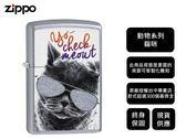 【寧寧精品】Zippo 原廠授權台中30年旗艦店 終身保固 防風打火機  動物 墨鏡貓咪 現貨免運 4458-1