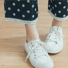 褲子 YOUNG GIRL蕾絲點點牛仔褲 單色-小C館日系